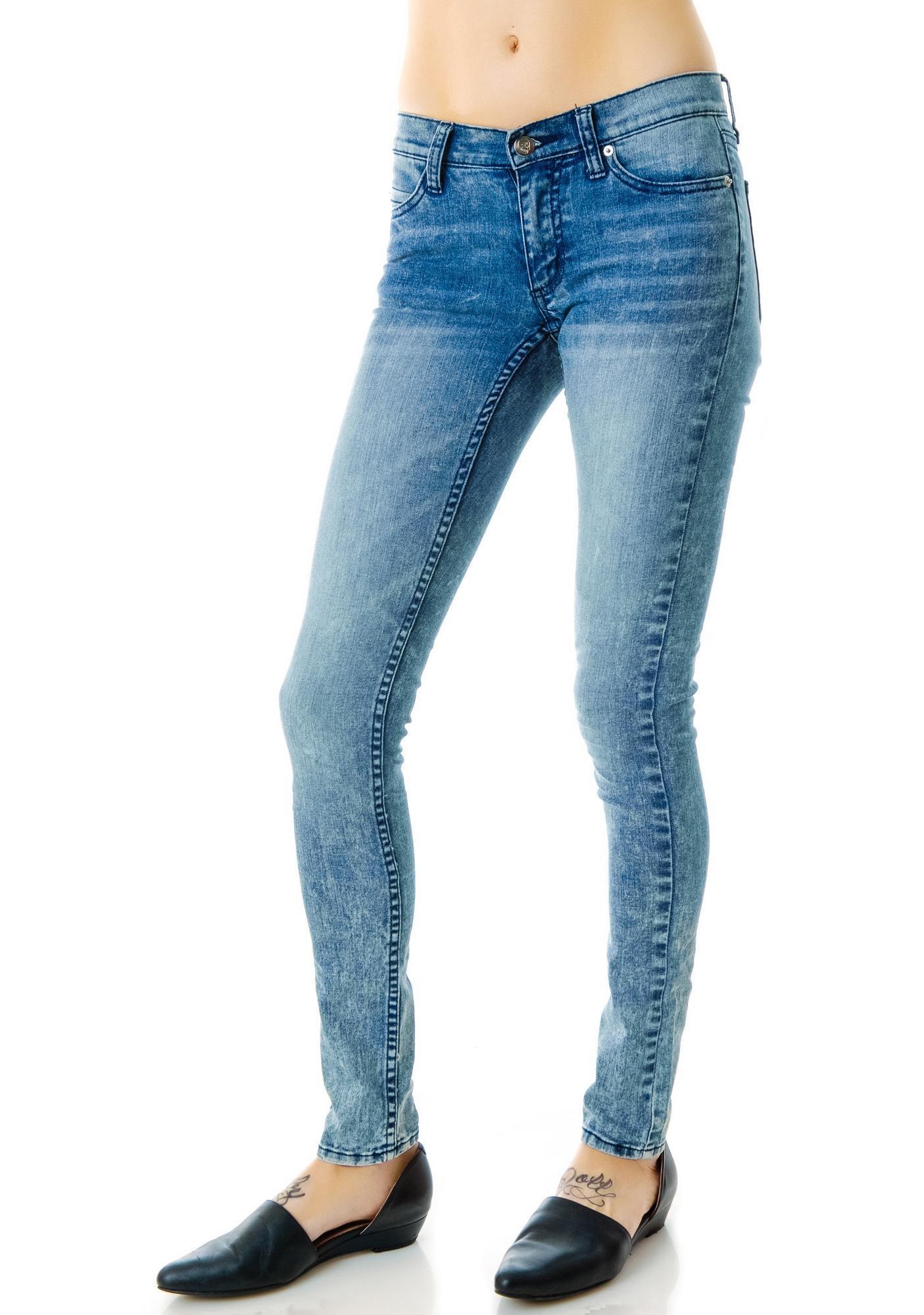 Cheap Monday Advanced Blue Slim Jeans