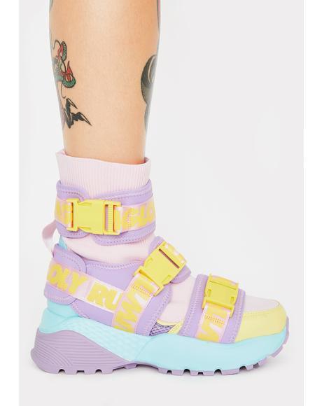 Pastel Teq Platform Sneakers