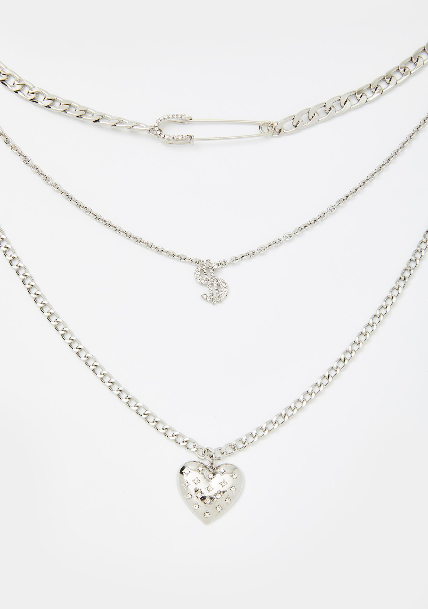 Money Lover Layered Chain Necklace