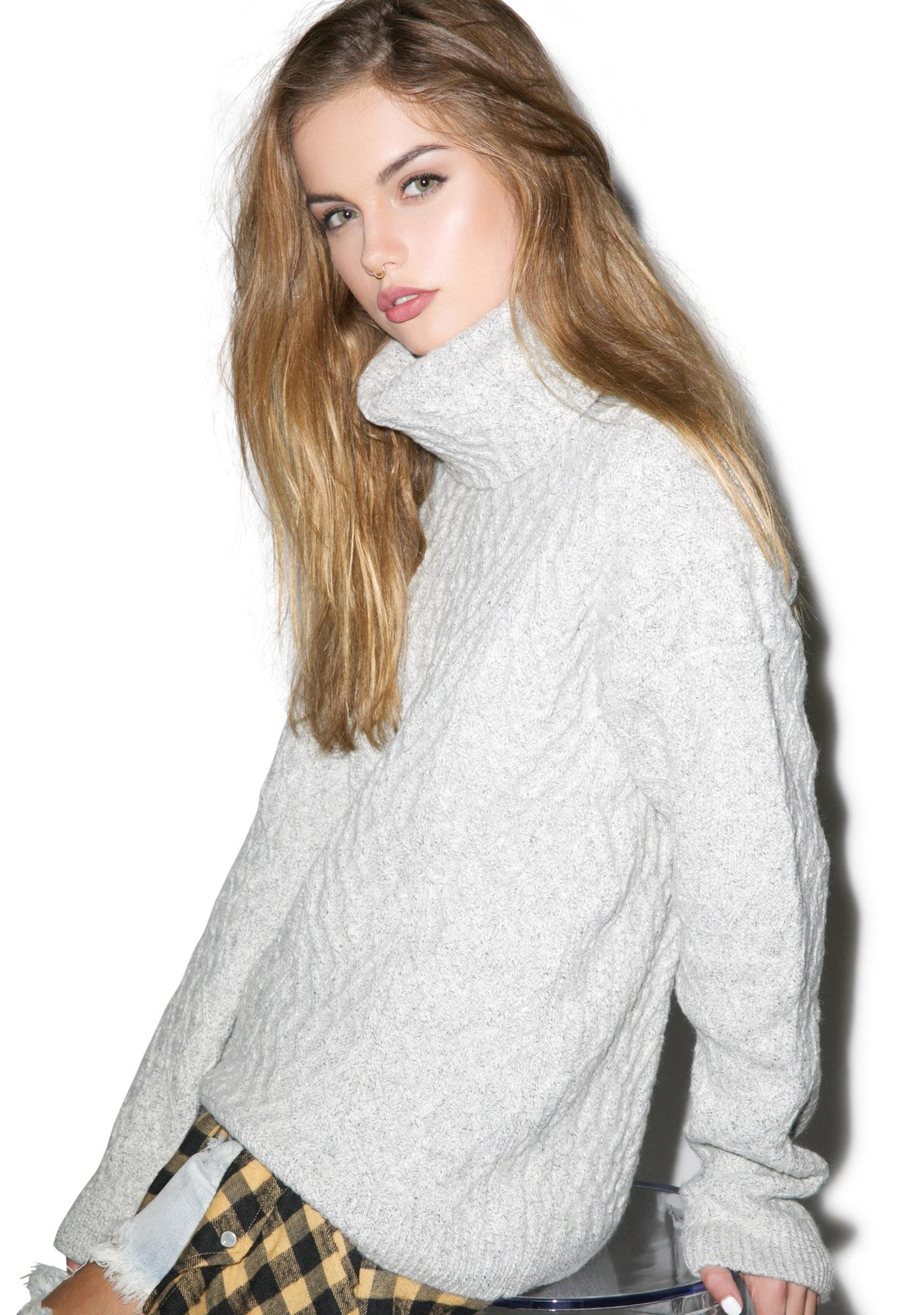 For Love & Lemons Snow Day Turtleneck Sweater