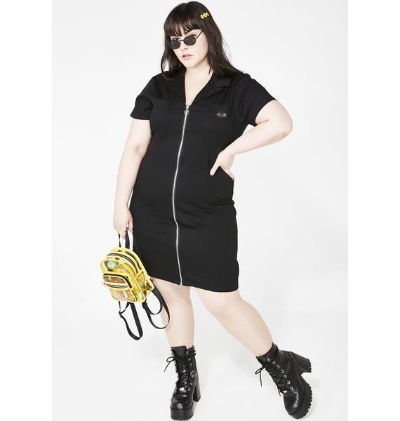dELiA*s by Dolls Kill Midnight Plz E-Mail My Heart Twill Dress
