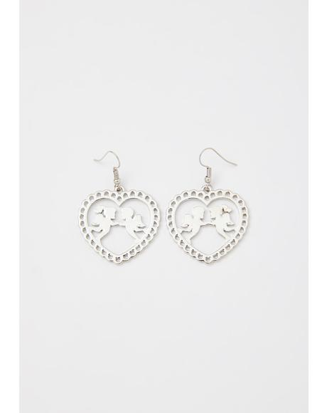 Heavens Above Cherub Earrings