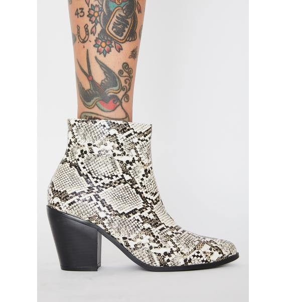 Venomous Hellbent Honey Ankle Boots
