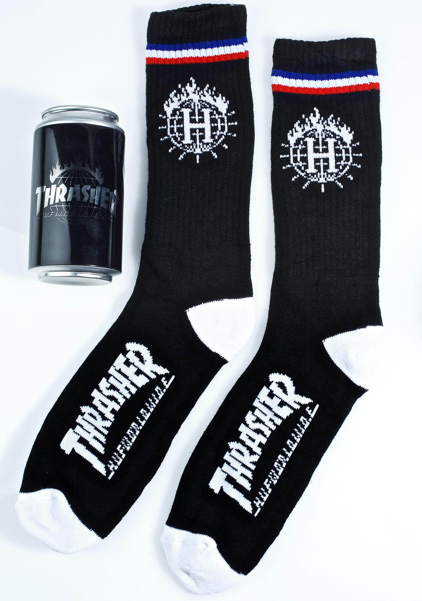 HUF X Thrasher Tour De Stoops Sock Can