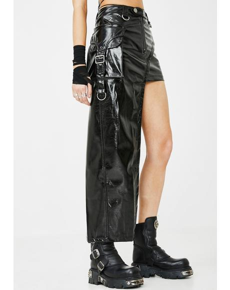 Latexity Asymmetric Skirt
