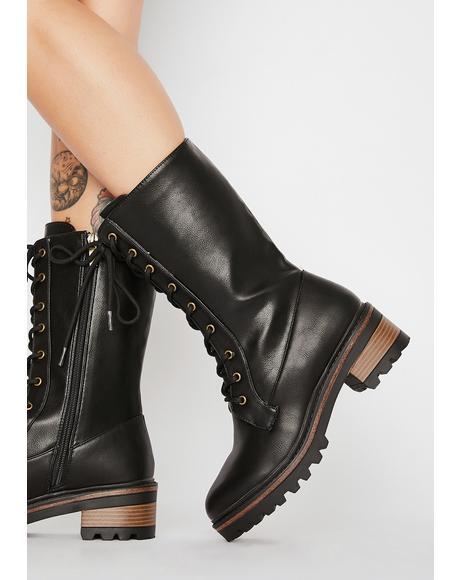 Binding Spell Combat Boots