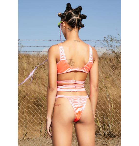 Club Exx Dancefloor L'amour Strappy Bodysuit