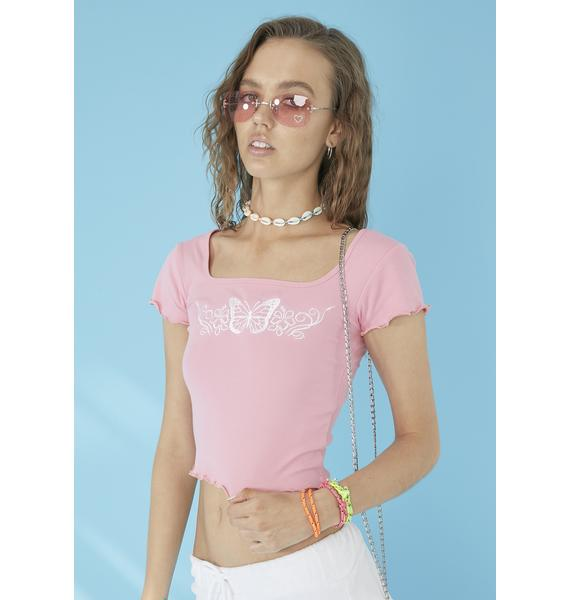 dELiA*s by Dolls Kill Come Away With Me Baby Tee