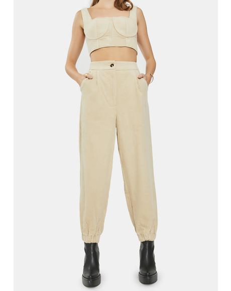 Stone Straight Leg Trousers