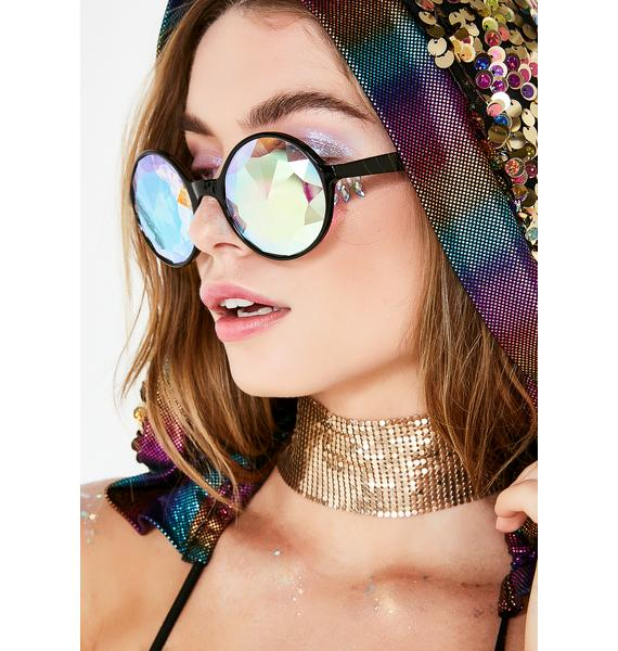 Dark New Spectrum Kaleidoscope Glasses
