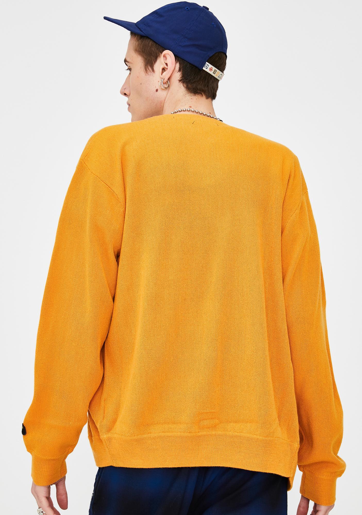 XLARGE Yellow Playful Knit Cardigan