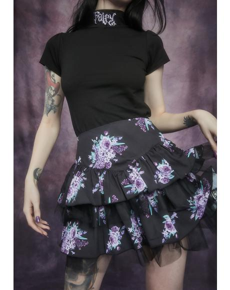 Thorns And Thistles Tiered Floral Skirt