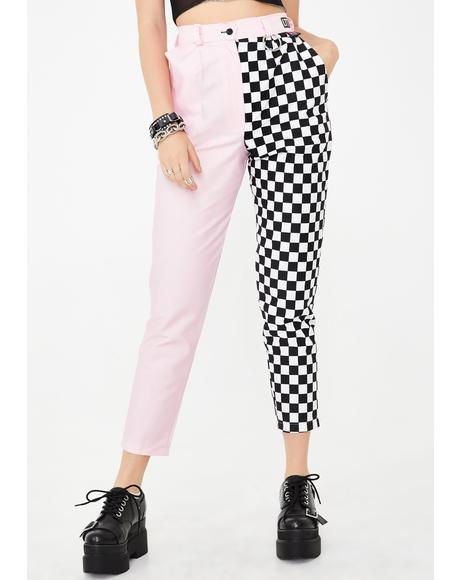 Candy Checkerboard Clash It Trousers