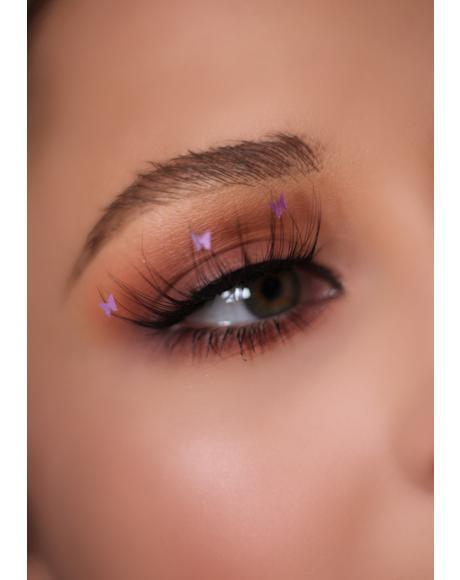 Purple Flutter Lashes