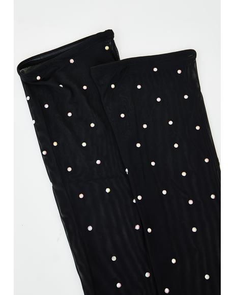 Be Jeweled Thigh High Socks