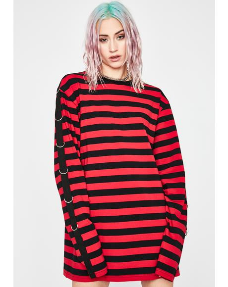 Mass Chaos Striped Top