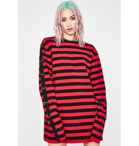 Current Mood Mass Chaos Striped Top
