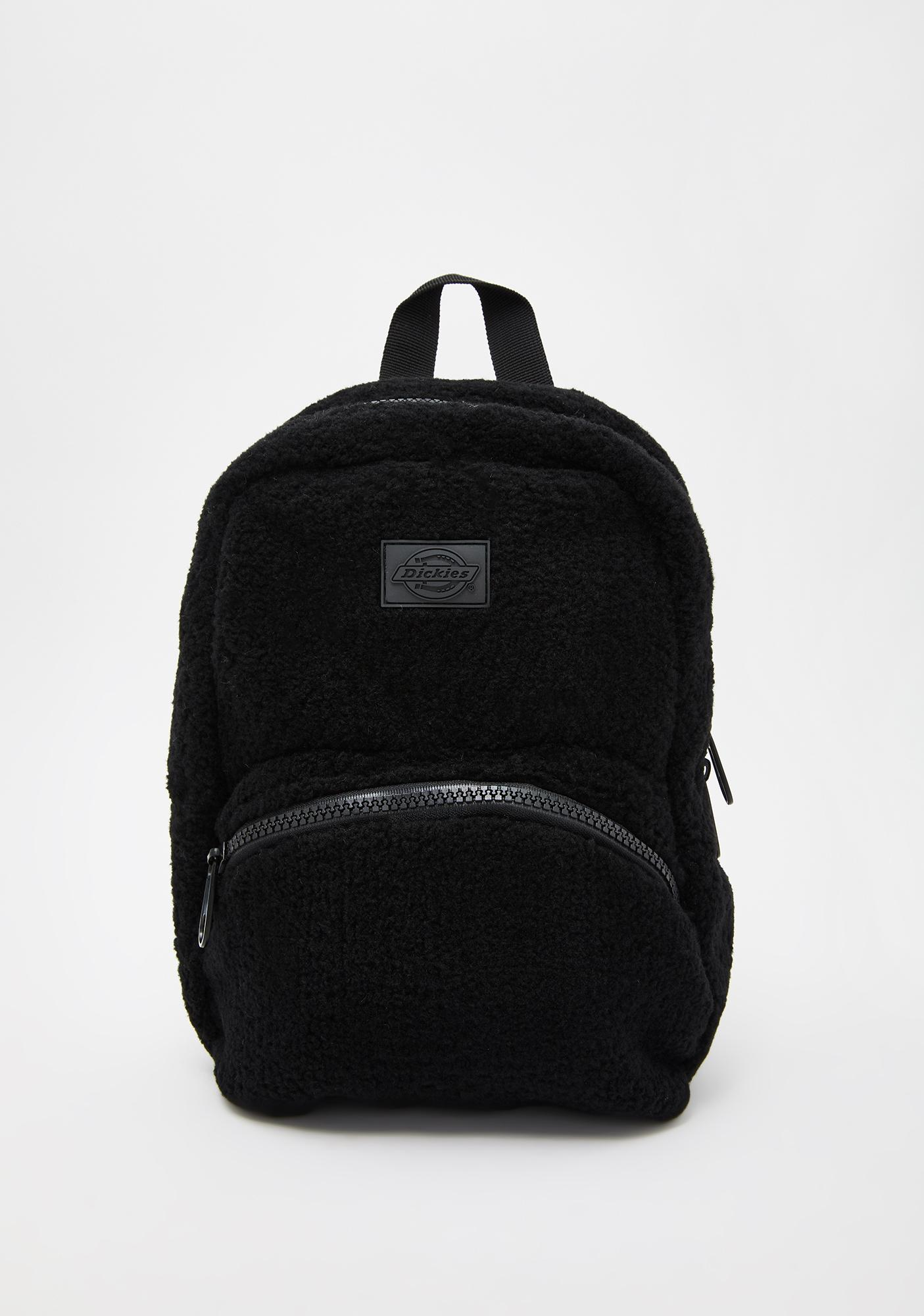 Dickies Black Sherpa Mini Backpack