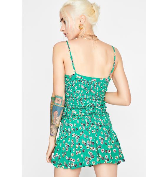 Clever Clover Smocked Dress
