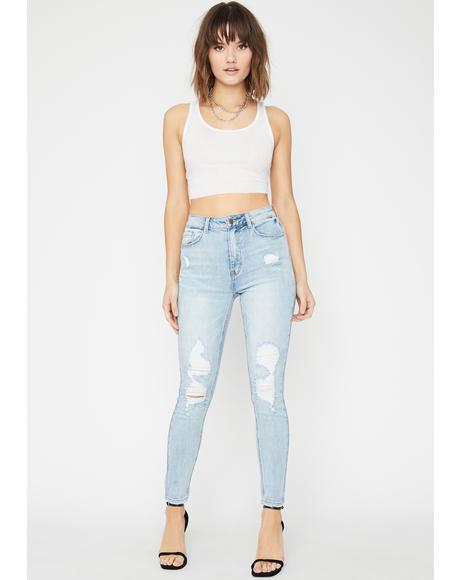 Wild Nightz Distressed Jeans