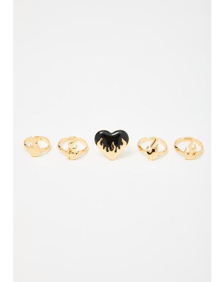 Hellfire Love Ring Set