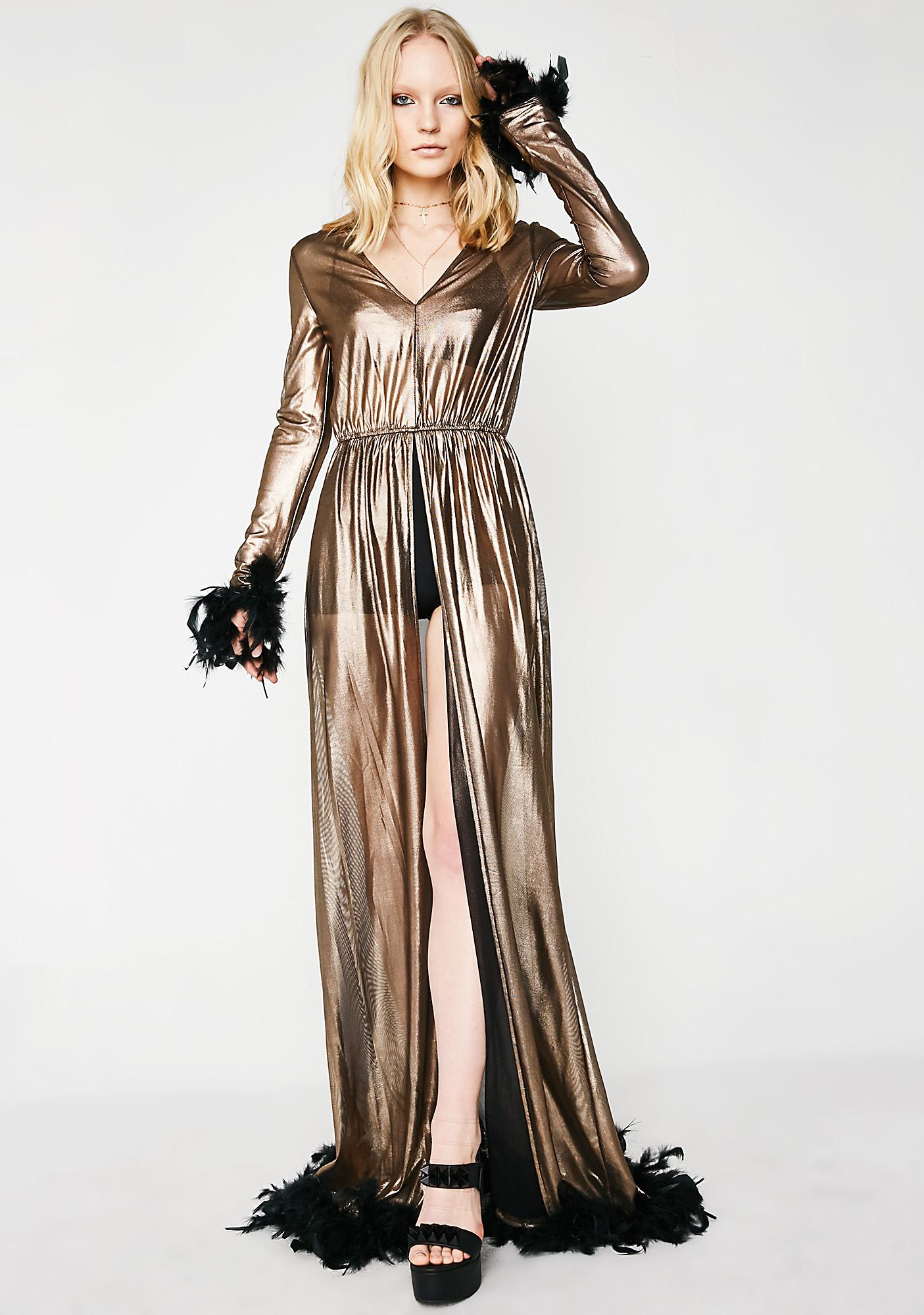 Sass It Up Golden Robe