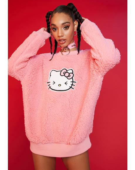 At First Blush Teddy Sweatshirt