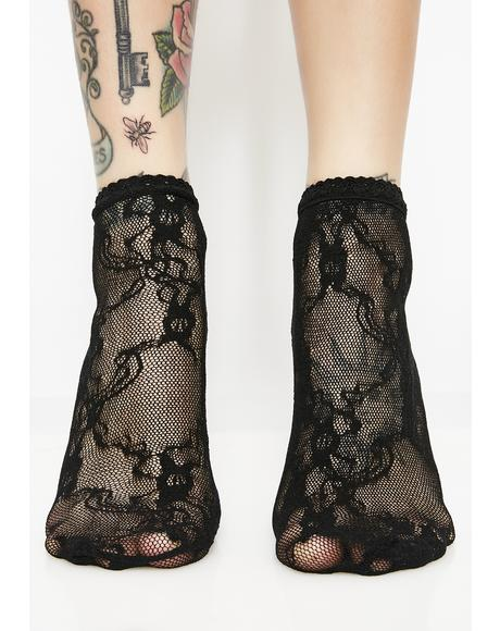 Stroke Of Midnight Lace Socks