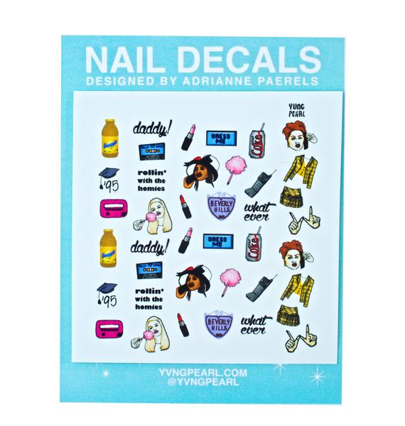 Yvng Pearl Ugh As If Nail Decals