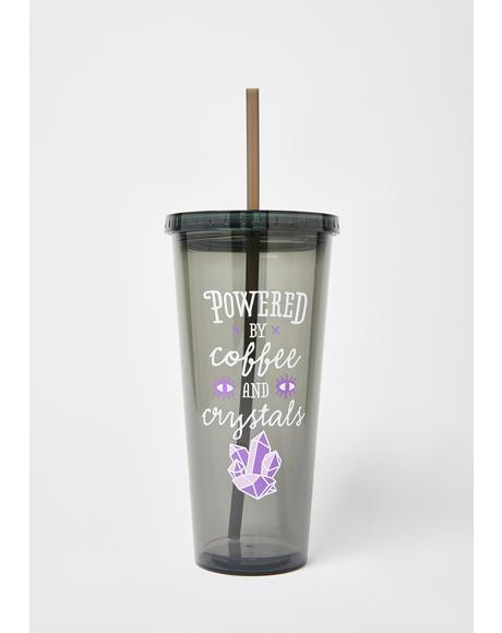 Coffee and Crystals Tumbler