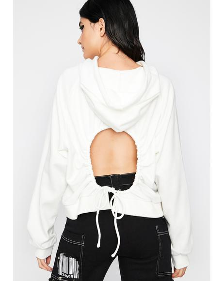 Icy Look Back At It Cut-Out Hoodie