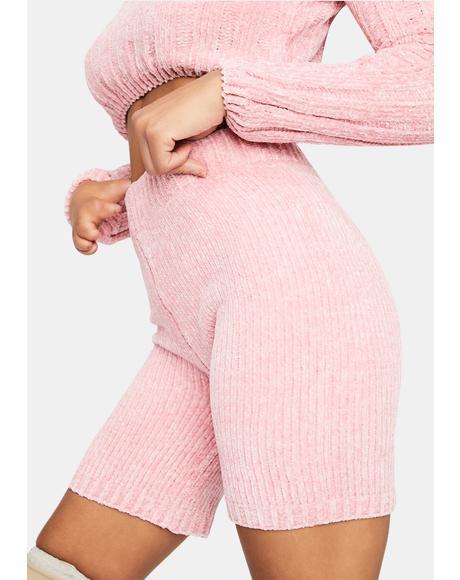 Luxe in Love Knit Biker Shorts