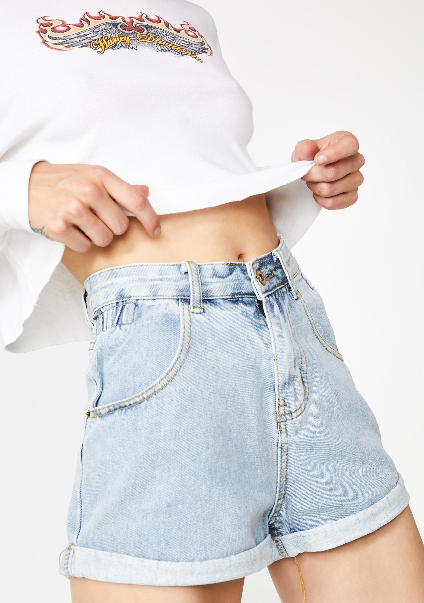 American Gurl Cuffed Denim Shorts by