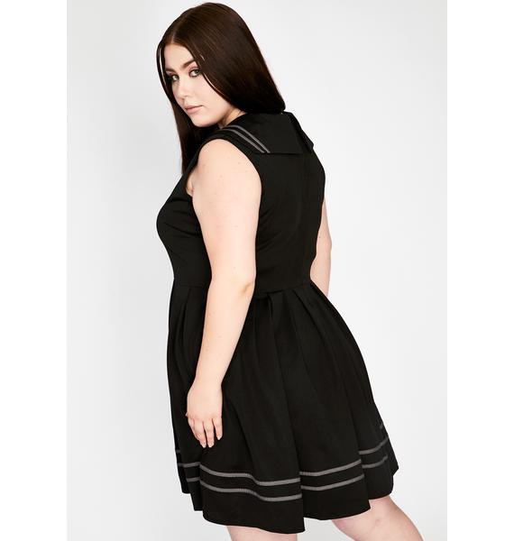 Jawbreaker Plus Sailor Goth Mini Dress
