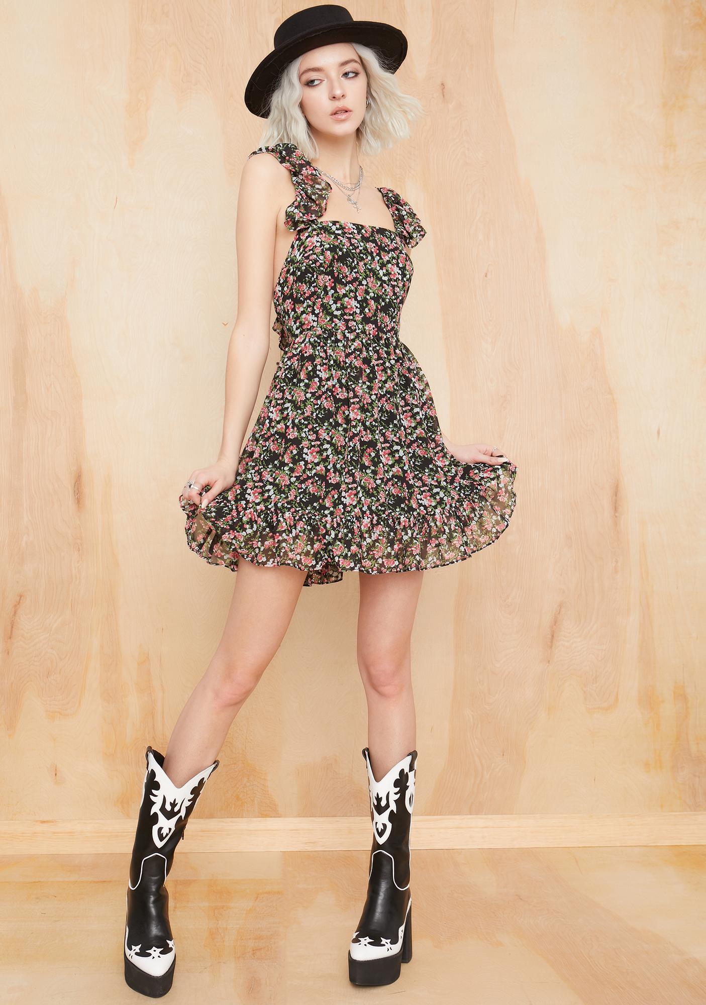 Current Mood Springtime Sadness Apron Dress