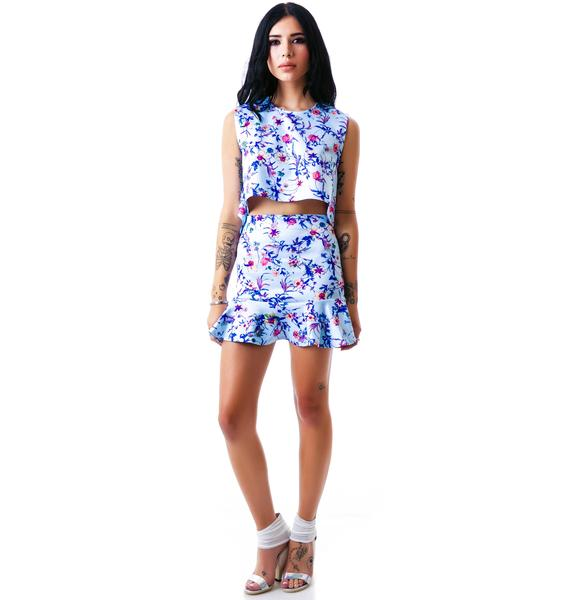 Flora Peplum Talk Skirt