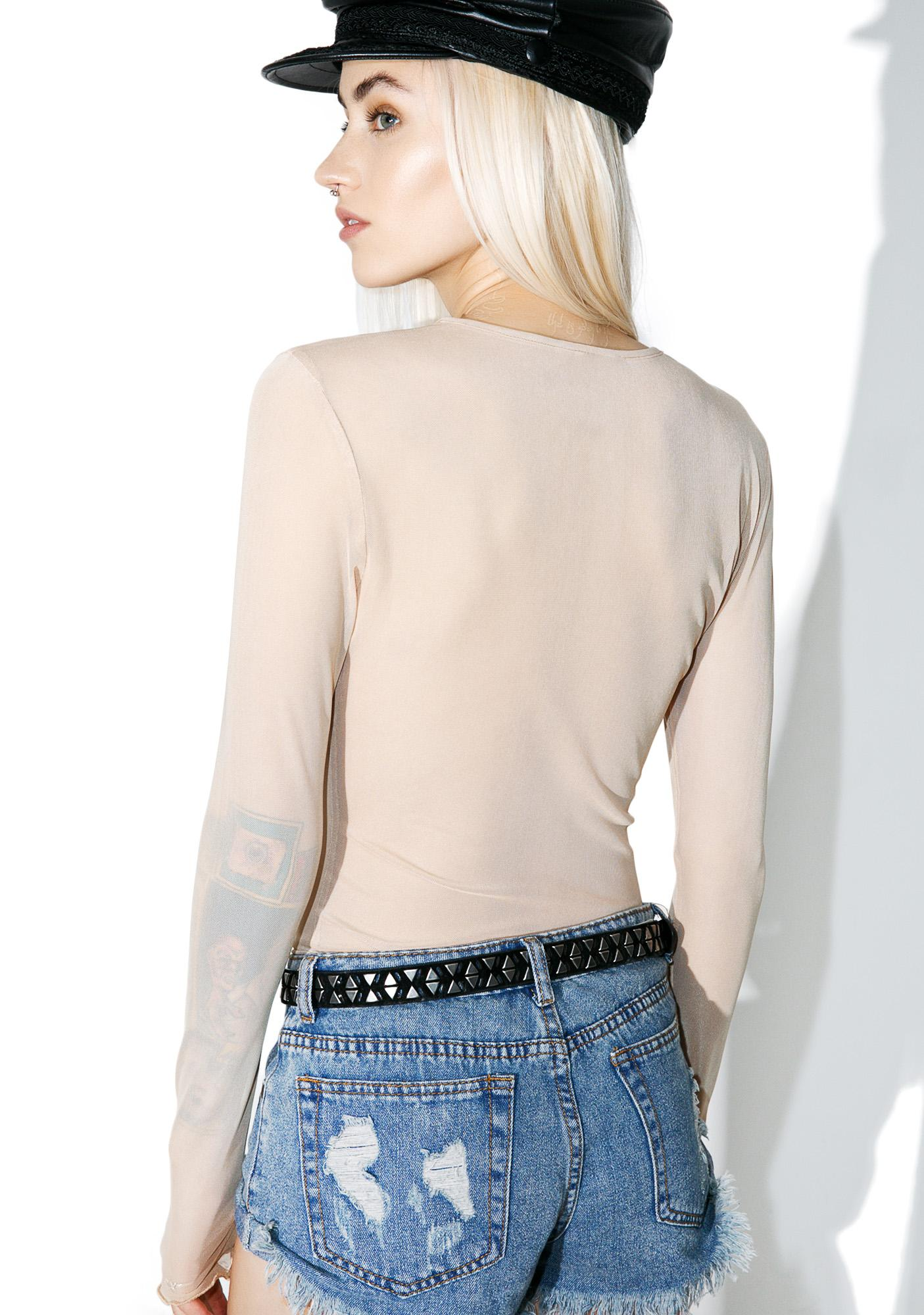 Nude Crowd Pleaser Mesh Long Sleeve