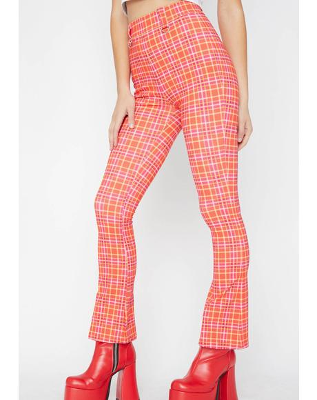 Driving Miss Crazy Plaid Pants