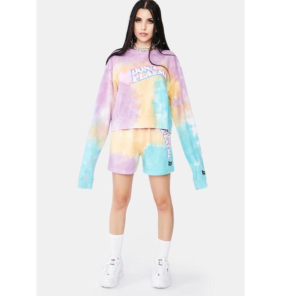 By Samii Ryan Don't Play Me Tie Dye Sweatshirt