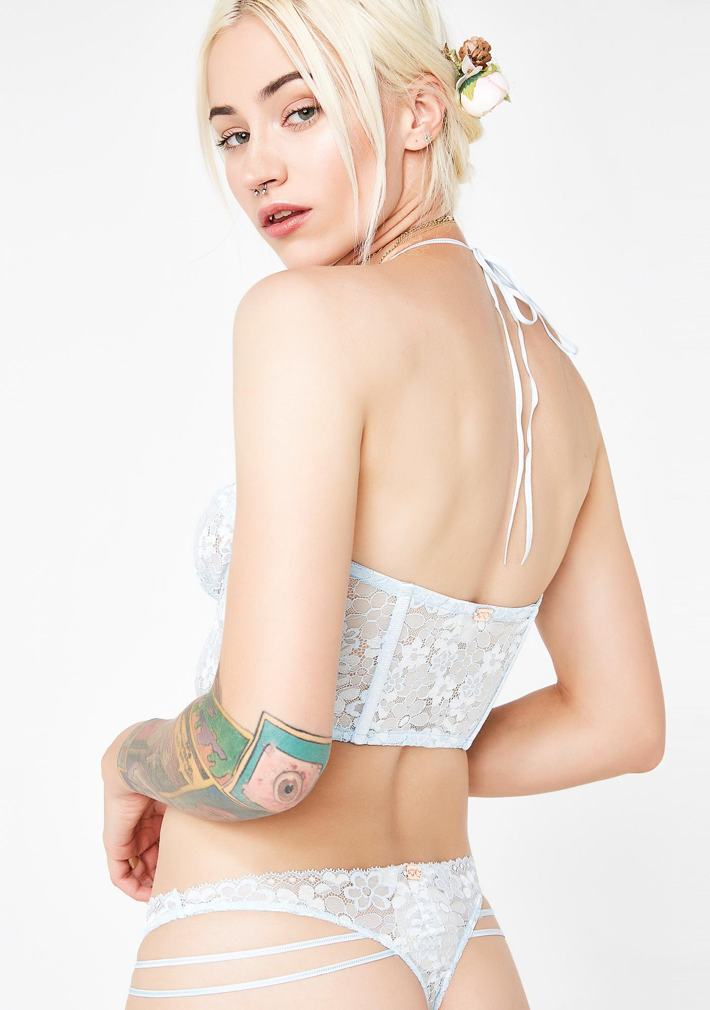For Love & Lemons Ethereal Visions Strappy Thong
