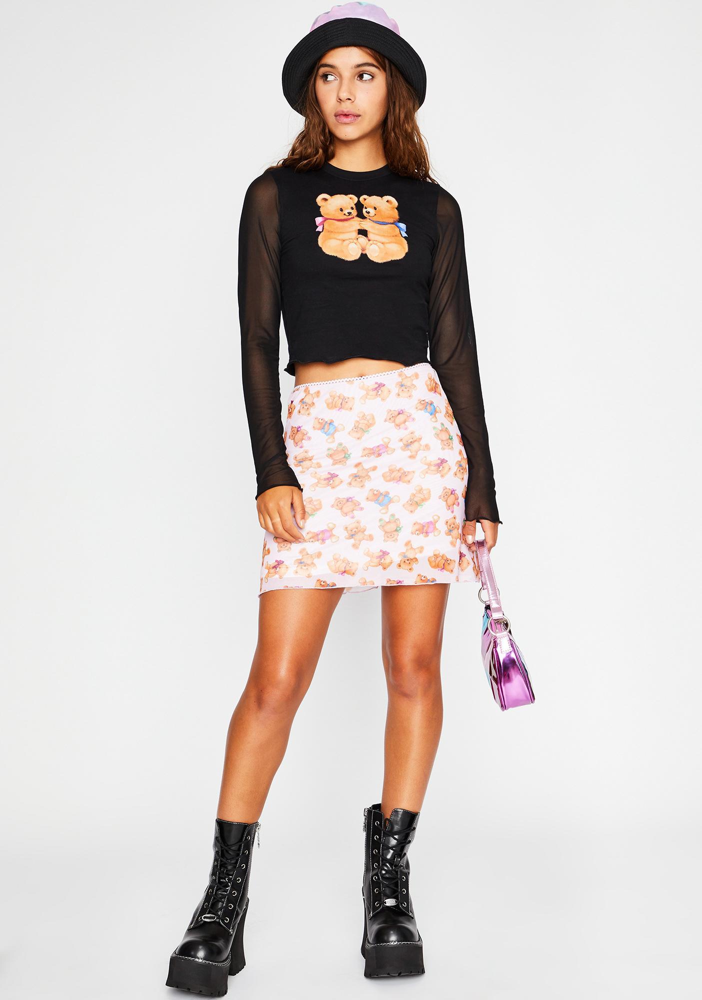 dELiA*s by Dolls Kill Double Stuffed Mini Skirt