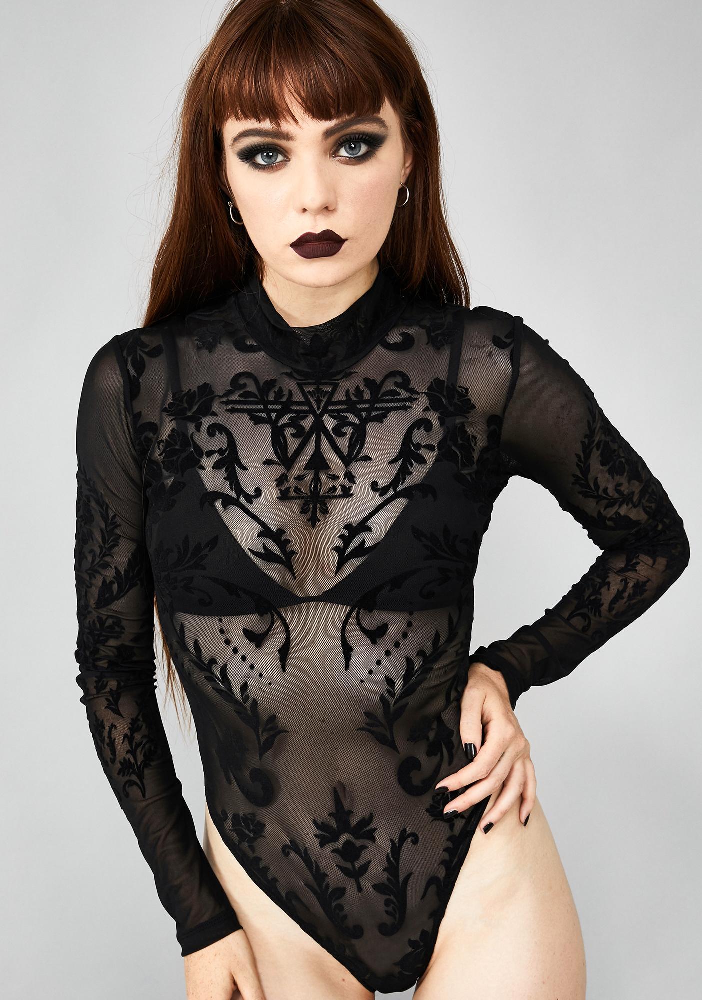 Widow Solemn Seductress Sheer Bodysuit