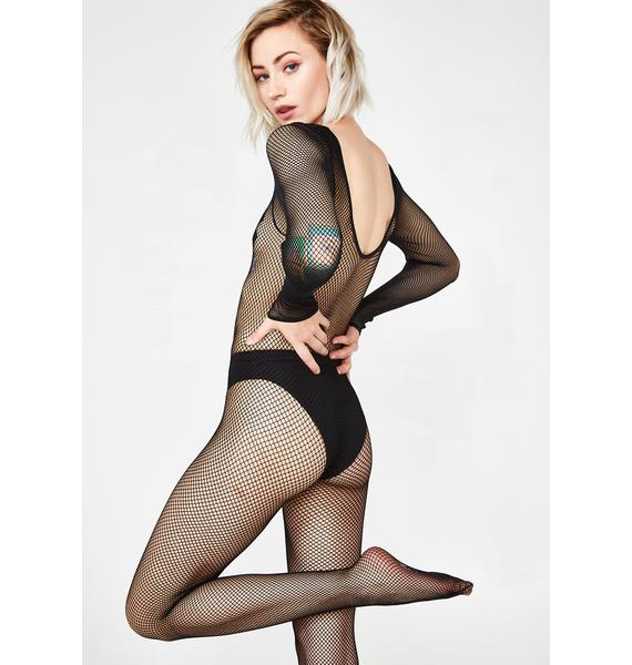 Rash Actions Fishnet Body Stocking