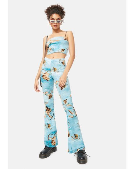 Goddess Timing Cherub Flare Pants