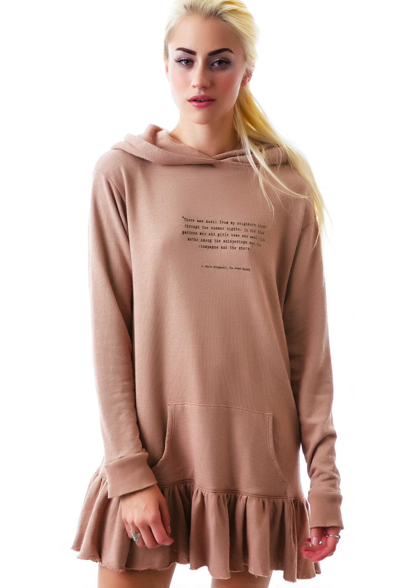 Wildfox Couture Champagne Stars Knight Hood Pullover