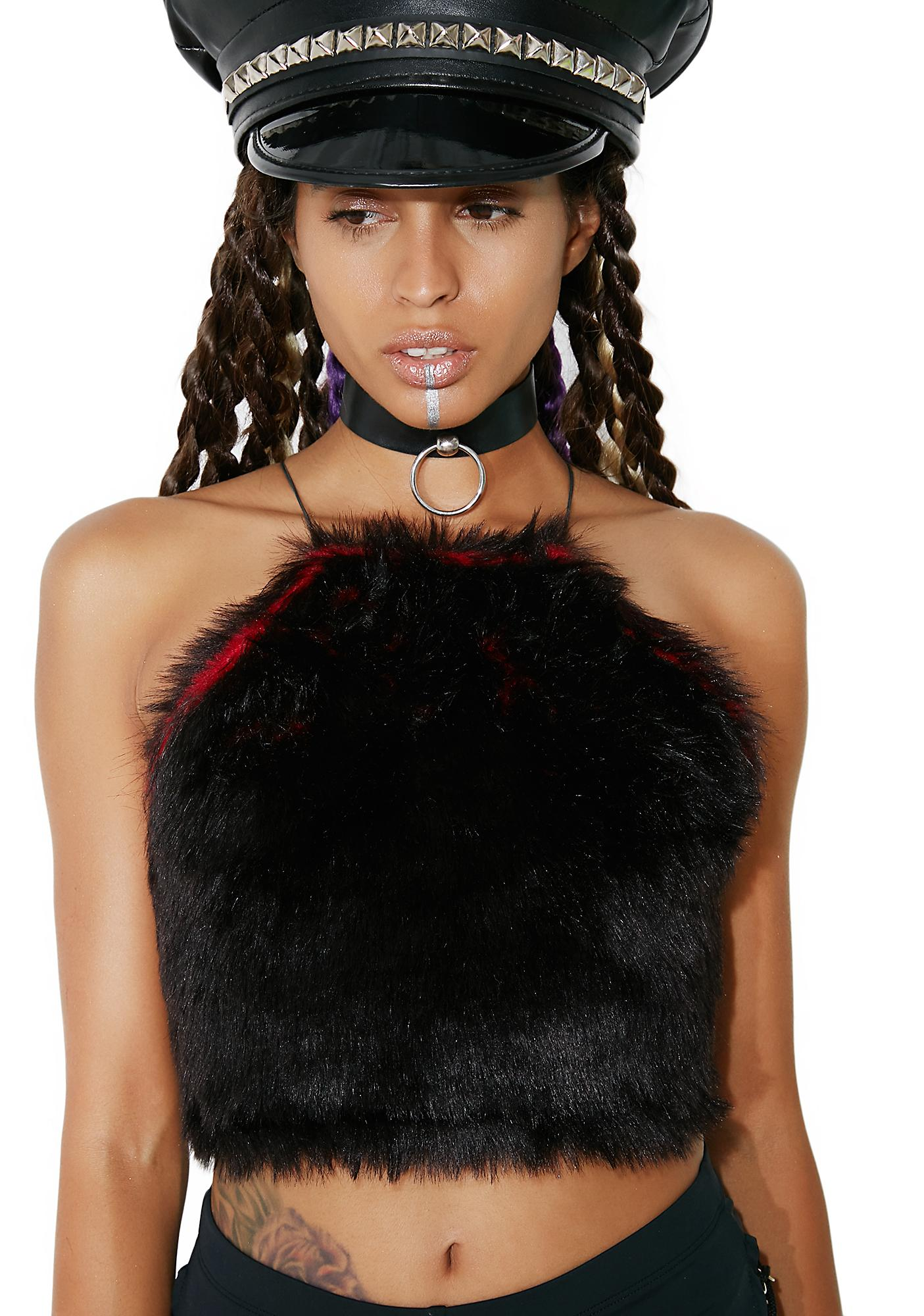 Posso Fur Baby Crop Top