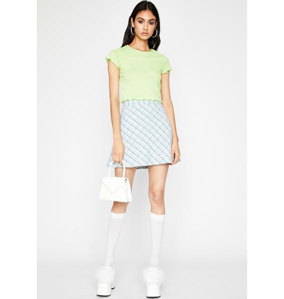 Lime Take Me Shopping Knit Tee