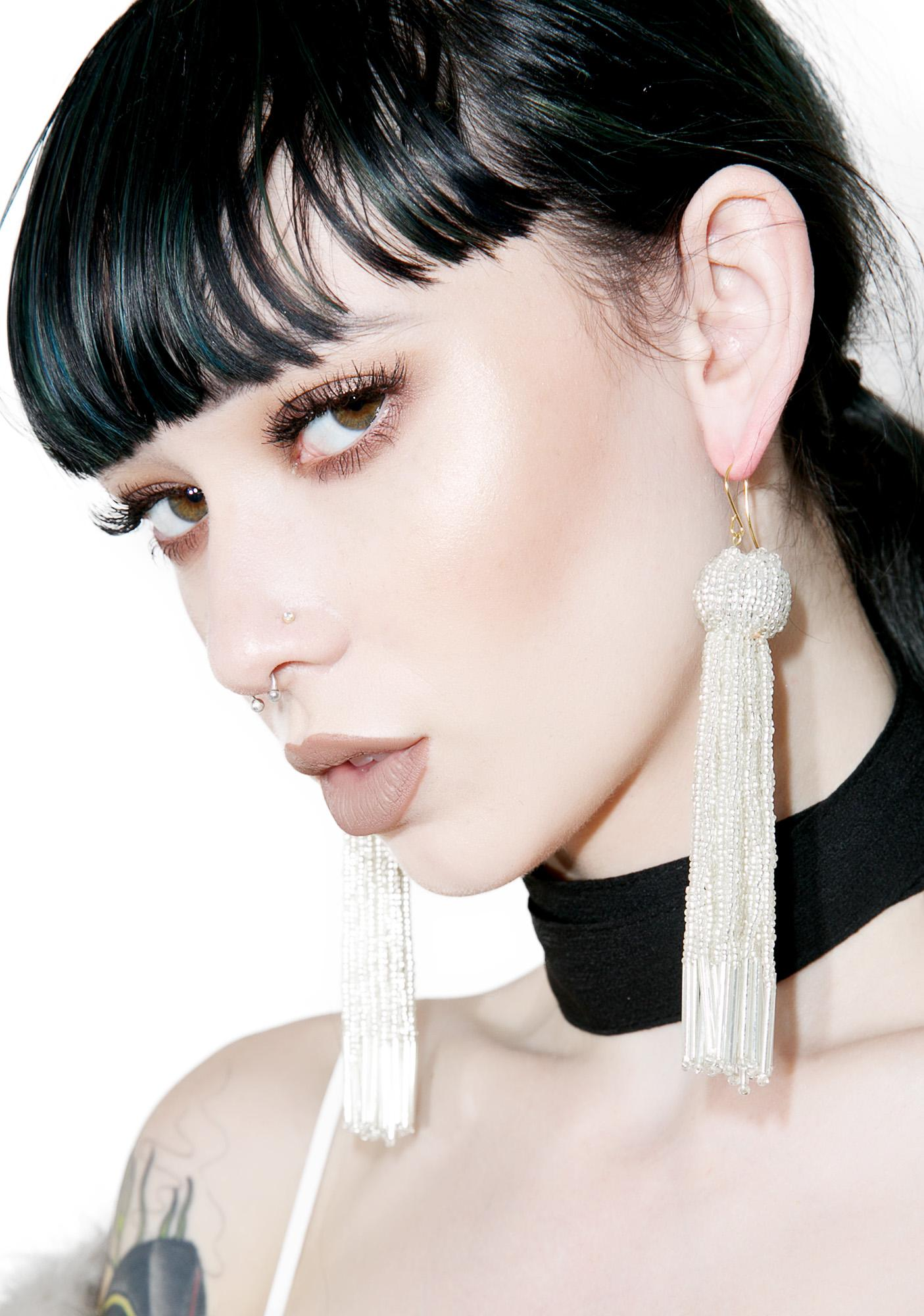Vanessa Mooney The Silver Charlize Earrings