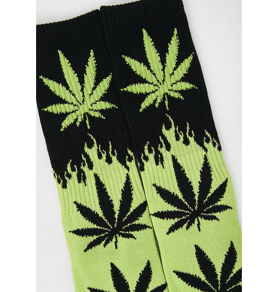 HUF Flame Plantlife Socks