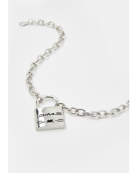 Cuffin' SZN Lock Necklace